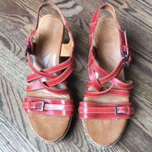 Naya brand adjustable strap wedge sandals